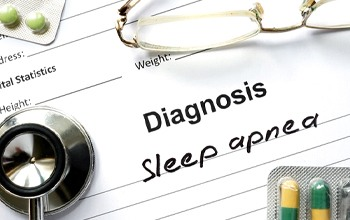 written diagnosis of sleep apnea